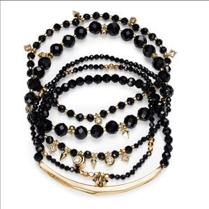 Kendra Scott Supak Gold Beaded Bracelet in Black 3